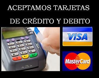 Aceptamos Tarjetas de Credito